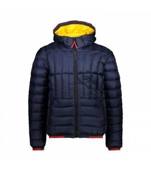 CMP Man Jacket Fix Hood Black Blue bunda