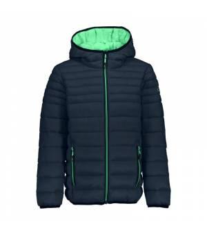 CMP Kid Jacket Fix Hood Black Blue bunda