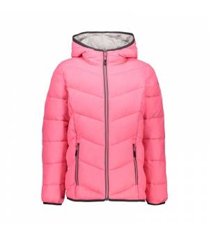 CMP Kid Jacket Fix Hood Pink Fluo bunda