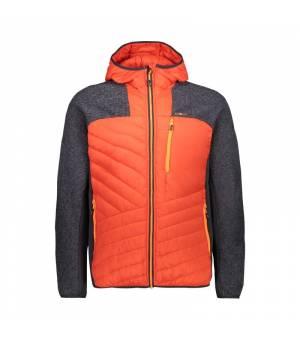 CMP Man Hybrid Jacket Fix Hood Tango mikina