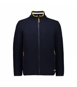 CMP Man Jacket Black Blue - Blu mikina