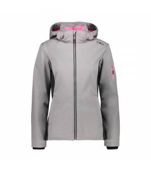 CMP Woman Zip Hood Jacket Argento Melange – Pink Fluo bunda