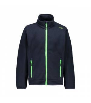 CMP Kid Jacket Black Blue Verde Fluo mikina