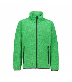 CMP Kid Jacket Verde Fluo Melange – Antracite mikina