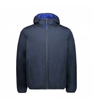 CMP Man Reverse Jacket Fix Hood Black Blue bunda