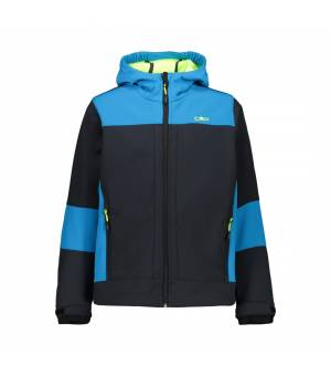 CMP Kid Fix Hood Jacket Antracite-Yellow Fluo bunda