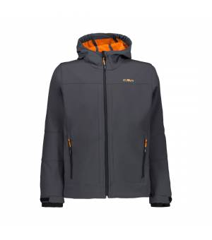 CMP Kid Fix Hood Jacket Antracite-Orange Fluo bunda