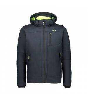 CMP Man Zip Hood Jacket Antracite – Yellow Fluo bunda