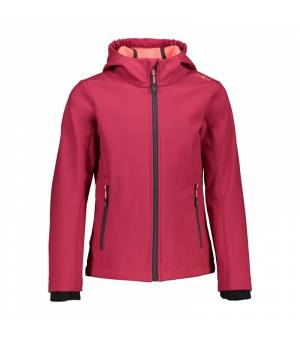 CMP Kid G Fix Hood Jacket Magenta - Red Fluo bunda
