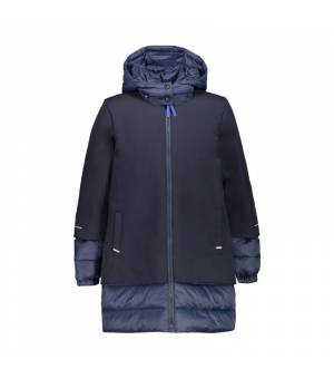 CMP Kid G Parka Fix Hood Black Blue bunda