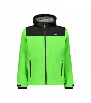 CMP Kid Fix Hood Jacket Verde Fluo - Grey bunda