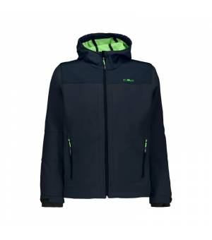 CMP Kid Fix Hood Jacket Black Blue – Verde Fluo bunda