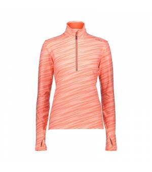 CMP Woman Red Fluo - Peach mikina