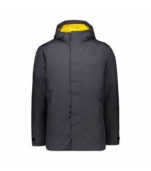 CMP Man Long Jacket Fix Hood Antracite bunda