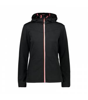 CMP Woman Jacket Fix Hood Antracite mikina