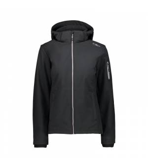 CMP Woman Zip Hood Jacket Nero bunda