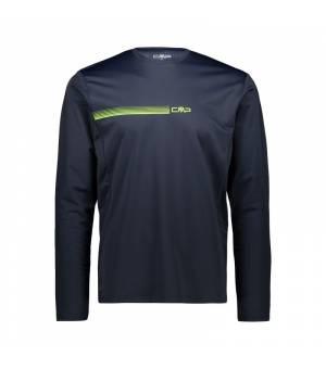 CMP Man T-Shirt Black Blue tričko