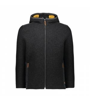 CMP Man Jacket Fix Hood Carbone Melange - Honey bunda