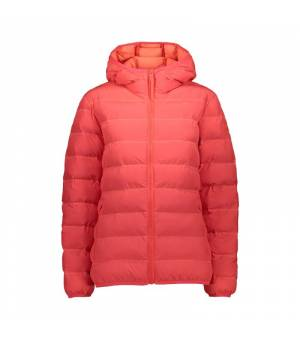 CMP Woman Jacket Fix Hood Red Fluo bunda