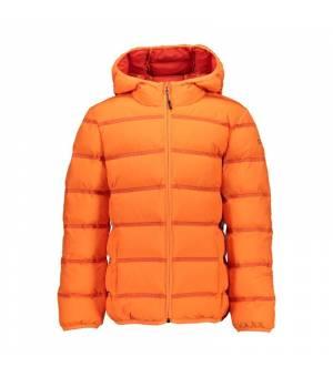 CMP Kid Jacket Fix Hood Orange Fluo Bunda