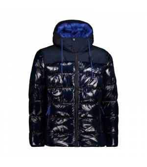 CMP Man Jacket Fix Hood Black Blue bunda