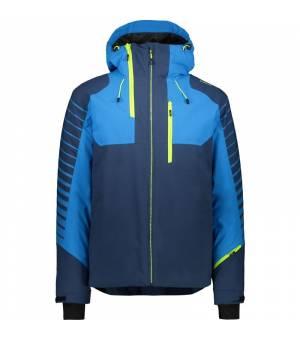 CMP Man Jacket Fix Hood Blue Ink bunda