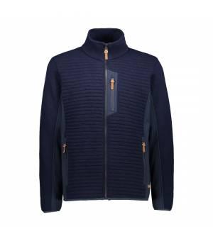 CMP Man Jacket Black Blue Melange bunda