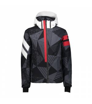 CMP Man Jacket Zip Hood Graffite – Nero bunda