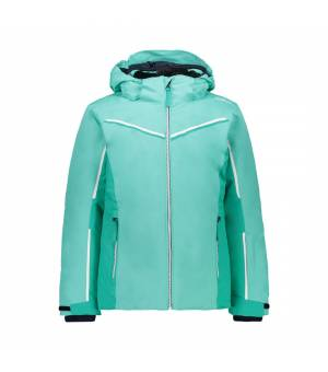 CMP Kid G Jacket Snaps Hood Acqua bunda