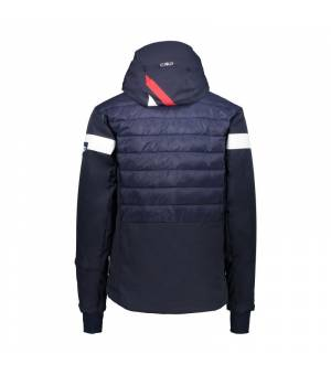 CMP Man Jacket Zip Hood Black Blue bunda