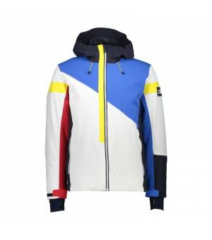 CMP Man Jacket Fix Hood Bianco bunda