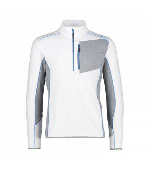 CMP Man Sweat Bianco-River Mikina