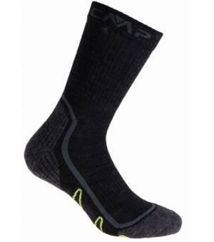 CMP Trekking Sock Poly Mid U423 Ponožky Čierne