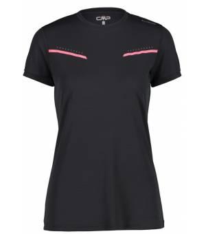CMP Woman T-Shirt Tričko U423 Čierne Antracite