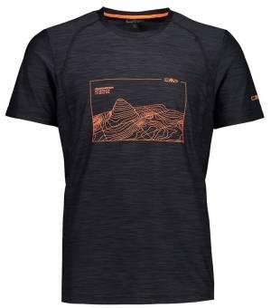CMP Man T-Shirt Tričko Čierne 78UG
