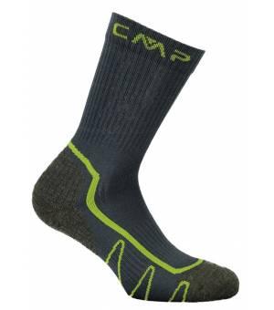 CMP Kids Trekking Sock Poly Ponožky Mid U940 Sivé
