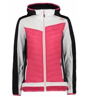 CMP Woman Fix Hood Hybrid Jacket Mikina B880 Ružová