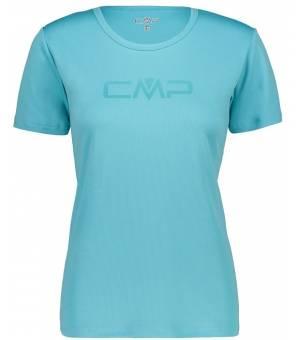 CMP W Tričko S Logom CMP Tyrkysové