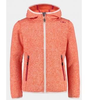 CMP Kid G Fix Hood Jacket Mikina C672 Oranžová
