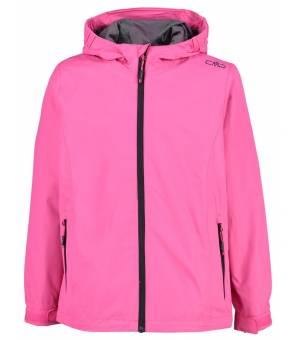 CMP Kid G Rain Fix Hood Jacket Bunda H620 Ružová