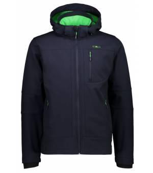 CMP Man Zip Hood Jacket Bunda 01NG Modrá