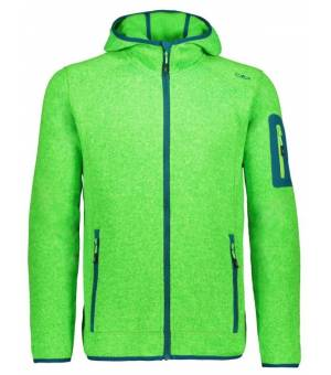 CMP Man Fix Hood Jacket Mikina 11EG Zelená