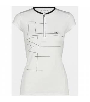 CMP Half Zip W Tričko Biele