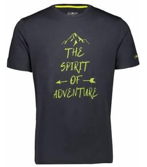 CMP Man T-Shirt Tričko U940 Čierne