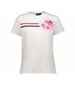 CMP Woman T-Shirt Tričko A001 Biele Sangria