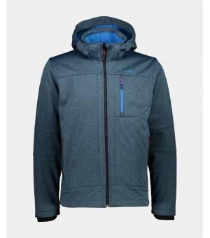 CMP Man Zip Hood Jacket Bunda L832 Tyrkysová