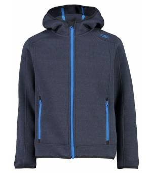 CMP Kid Jacket Fix Hood Mikina Modrá 33UG