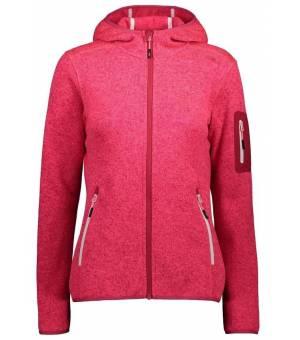 CMP Woman Fix Hood Jacket 13CG Červená