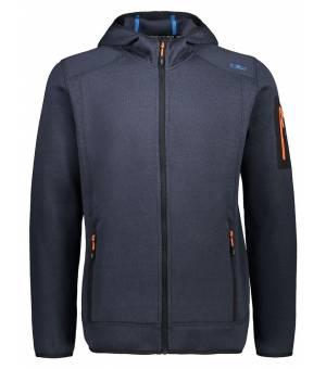 CMP Man Fix Hood Jacket Mikina 33UG Modrá
