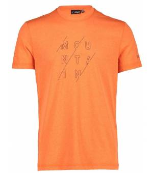 CMP Man T-Shirt Tričko C711 Oranžové